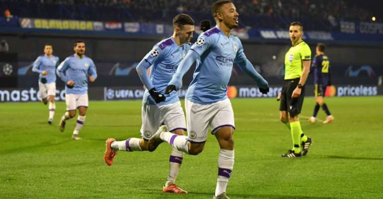 UCL: Jesus Hat-Trick Lifts Man City's Mood In Zagreb