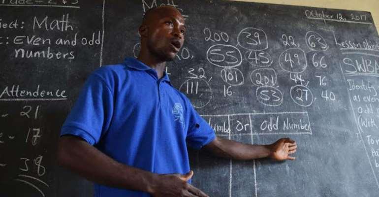 A Ghanaian teacher, photo credit: Ghana media