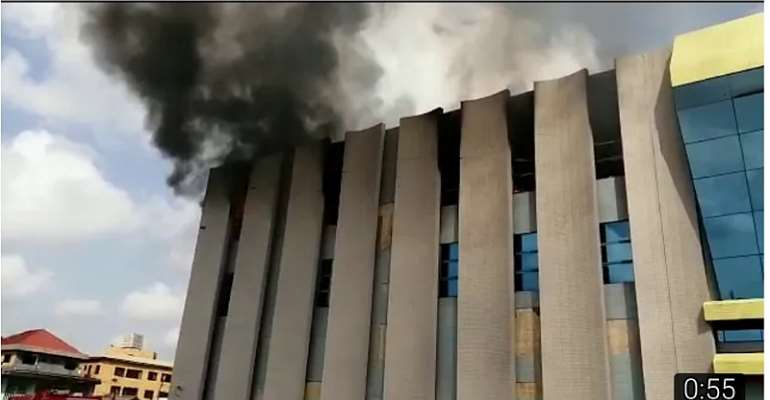 Breaking VIDEO: GRA Circle Office On Fire