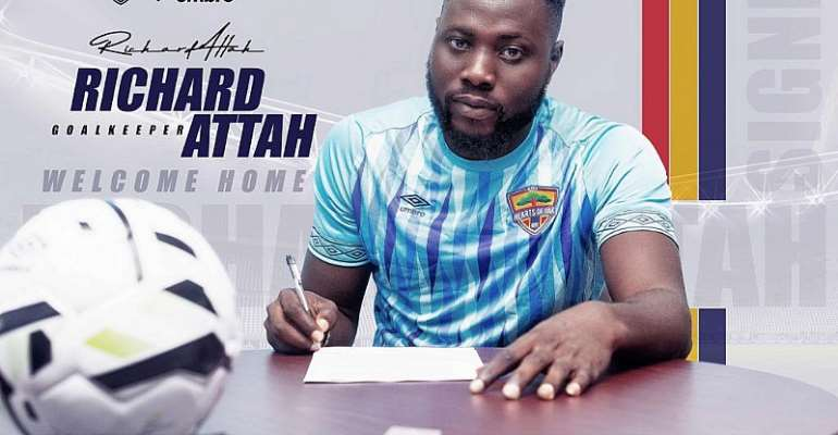 OFFICIAL: Hearts Of Oak Announce Signing Of Goalkeeper Richard Attah