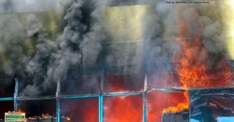 GRA Head Office Annex up in flames: Social media users react