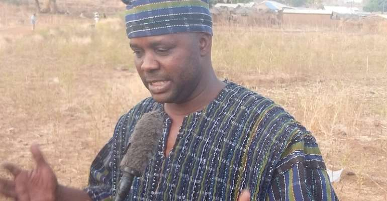 The Assemblyman Elect for Zoliba-Tindongo Electoral Are Mr Charles Taleog Ndanbon, speaking to the media during his victory rally