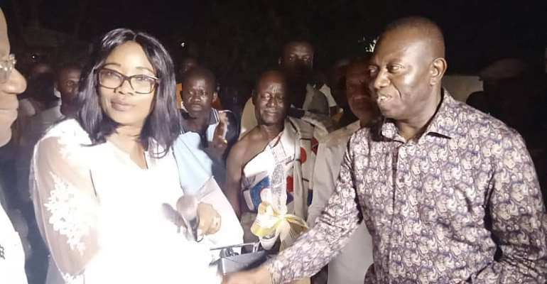 Gender Minister Supports 3Institutions In Agona West Municipality