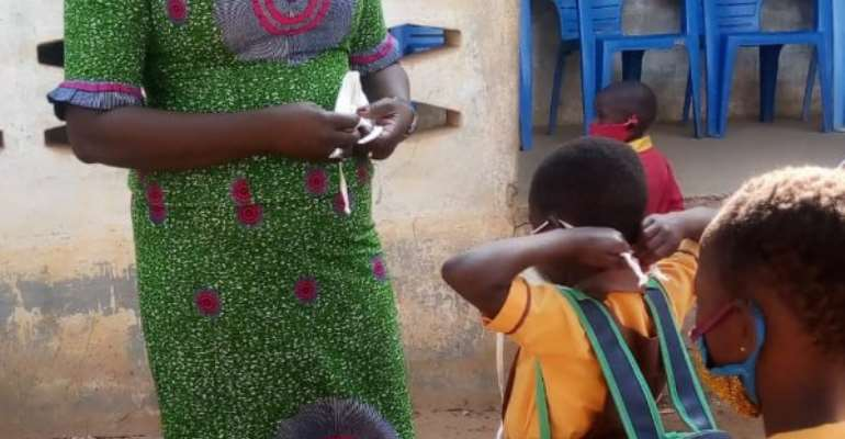 Caution children against exchange of face masks in school — Tangoba