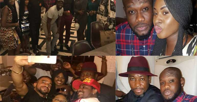Prince David Osei Celebrates With Friends At His Birthday Party