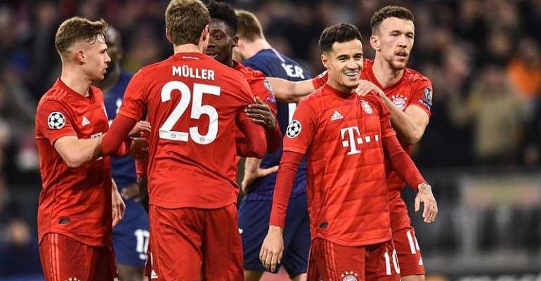 UCL: Bayern Munich Make It Six Out Of Six With Win Over Tottenham