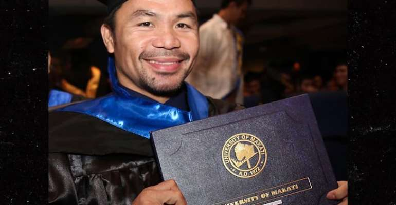 Manny Pacquiao Gets College Diploma
