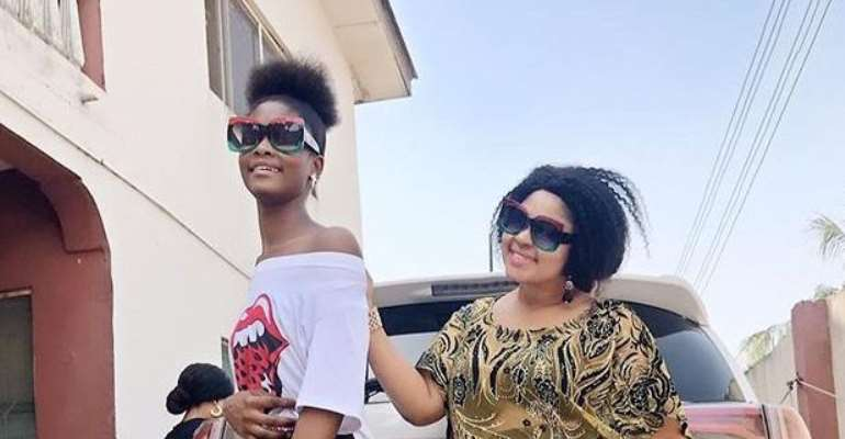 Checkout Cute Photos of Actress, Biodun Okeowo with Daughter