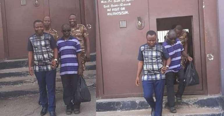 Christian Atsu Settles Fine For A Blind Prisoner [PHOTOS]