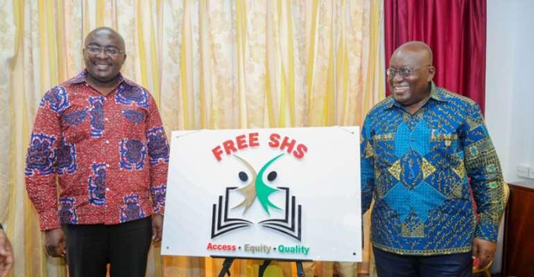 President Nana Akufo-Addo (right) with Vice President Dr Bawumia