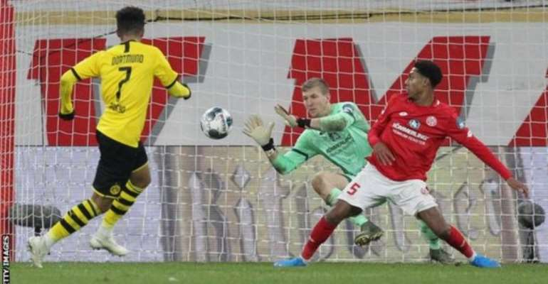 Bundesliga: Sancho Scores For Sixth Game In A Row As Dormtmund efeat Mainz