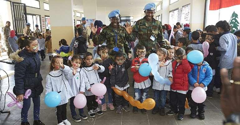Ghanaian Peacekeepers In Lebanon Celebrate World Children's Day