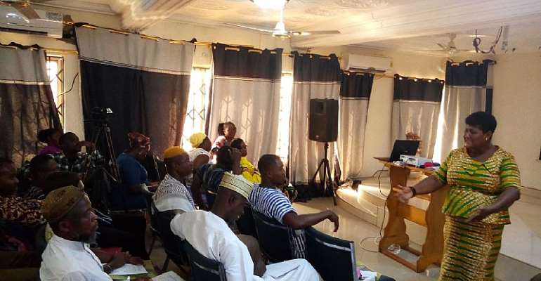 Supt. Setina Aboagye, DOVVSU Co-ordinator Participants at the advocacy meeting in Techiman