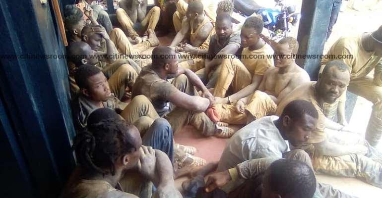 Ahafo Region: 62 illegal miners arrested in Kenyasi