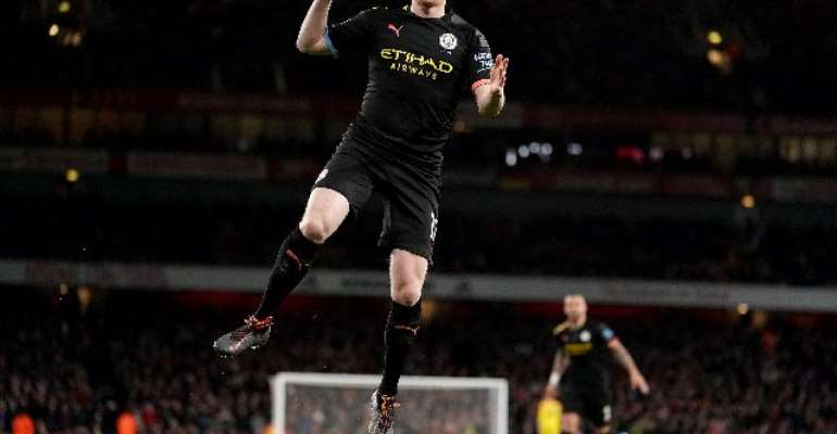 PL: De Bruyne Scores Two As Man CIty Outclass Arsenal