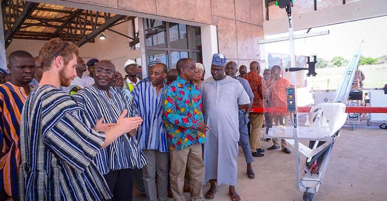 Bawumia Inspects Third Zipline Drone Distribution Centre
