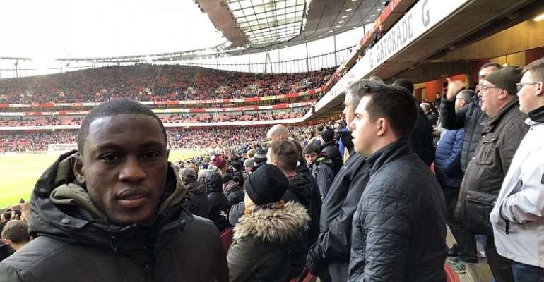 Majeed Waris Watches Christian Atsu In Newcastle Clash With Arsenal