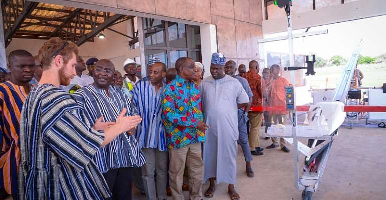 Walewale: Bawumia Inspects 3rd Zipline Medical Drone Centre At Kukua