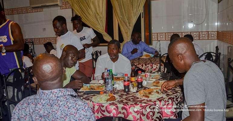 Maxwell Konadu Dines With Asante Kotoko Players [PHOTOS]
