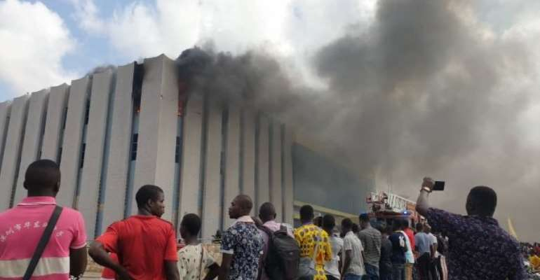 Another GRA Officer On Fire At Madina