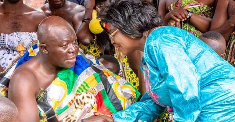 Sanitation Minister Joins Otumfour To Observe Akwasidae