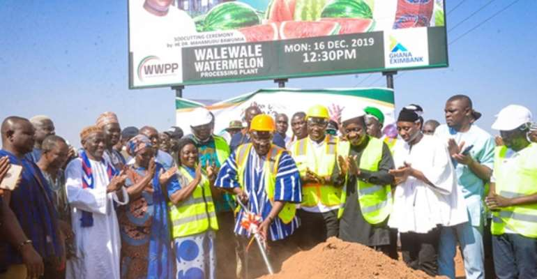 Bawumia Cuts Sod For Watermelon Processing Factory