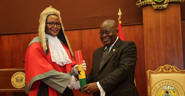 Akufo-Addo Swears In 45 High Court, Appeal Court Judges