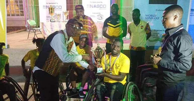 Elwils Putters Wheelchair Minigolf Club Win First League Trophy In Fashion