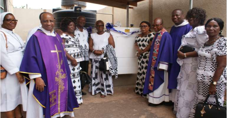 Peprah-Tawiah Family Donates Generator Plant To Catholic Church