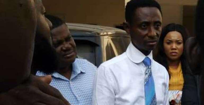 Pastor Kelvin Kwasi Kobiri after the attack