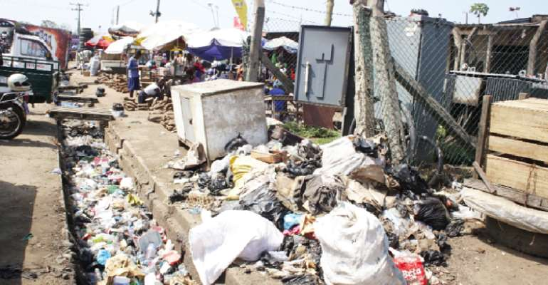 Refuse Engulf Markets In Assin