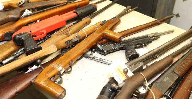 File: The National Commission on Small Arms and Light Weapons says it has started marking weapons to enhance easy identification and tracing guns used to commit crime.
