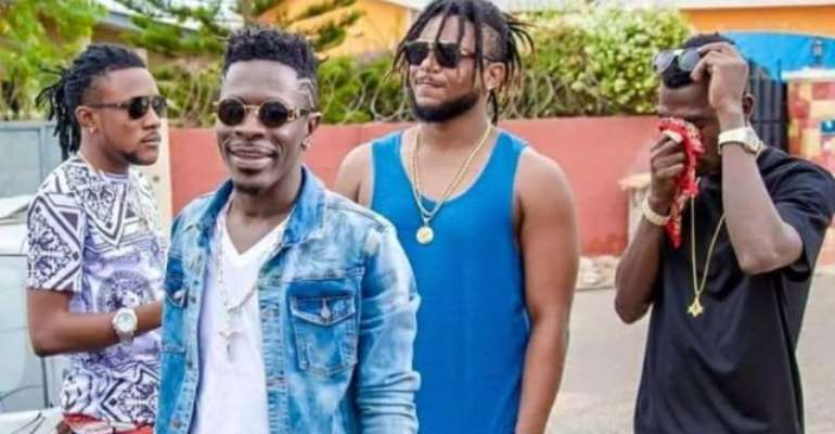 Addi Self (left), Shatta Wale, Captan (middle) Joint 77 (right)