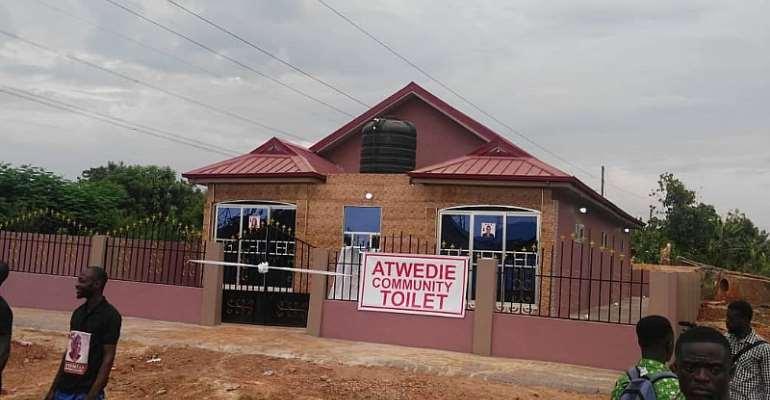 Asante-Akyem Atwedie Community Gets Ultra-Modern Toilet From First Klass Group