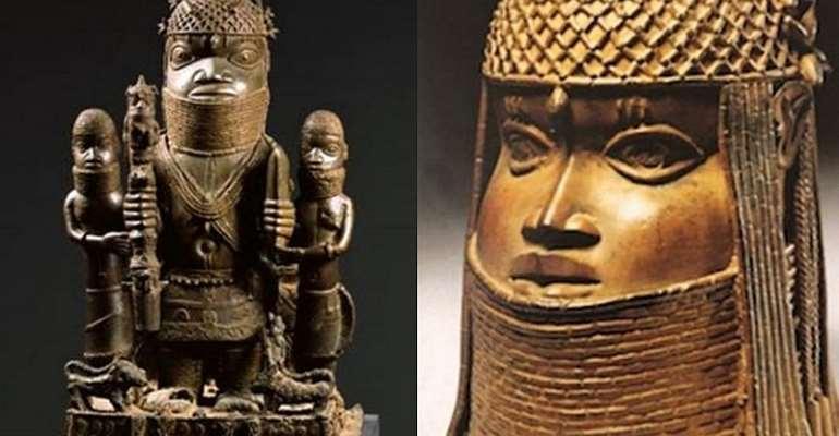 Oba Akenzua and Commemorative head of an Oba