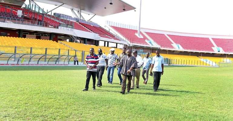 NSA Director General Inspects Accra Sports Stadium Ahead Of 2019/20 GPL Season
