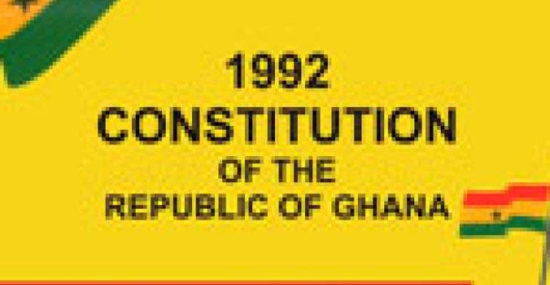 Overhaul The 1992 Constitution Of The Republic Of Ghana