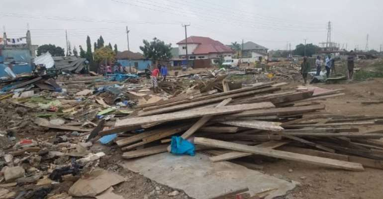 Residents have been left stranded after the demolition exercise