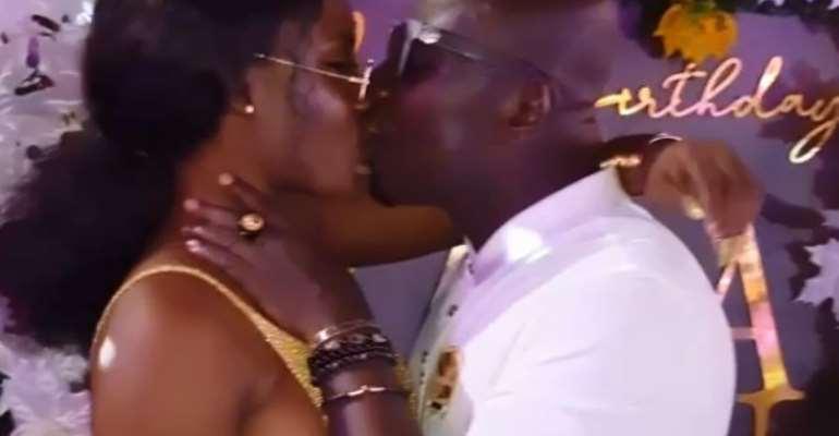 [Video] Nana Aba Anamoah's Baby Dada Osebo Seen Kissing New Girlfriend