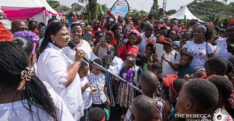 First Lady Fetes School Kids On New Year Day At Jubilee House