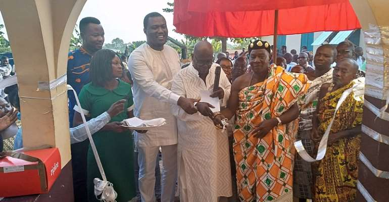 Effiduase-Asokore: MP Commissions Maternity Block At Okaikrom