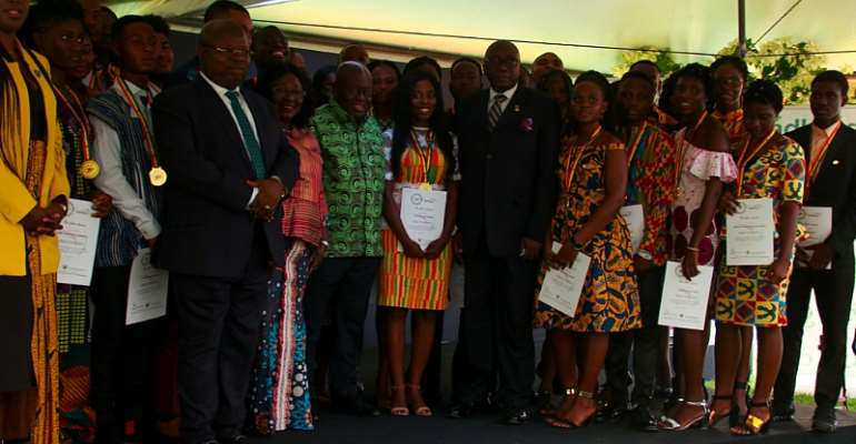 Akufo-Addo Honours 100 Young People With Head Of State Gold Awards