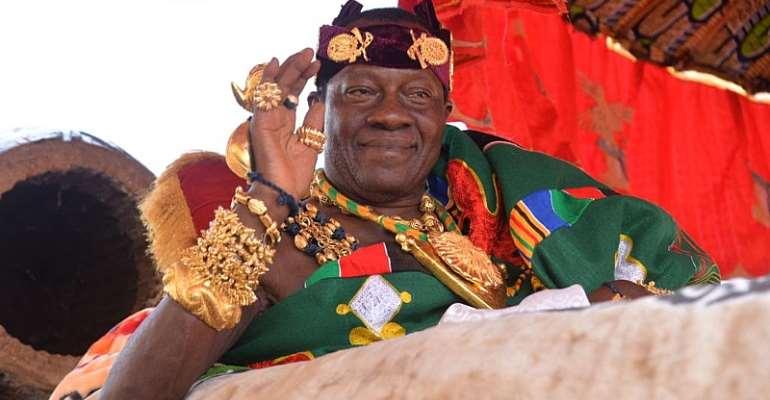 Omanhene of New Juaben Traditional Area Daasebre Prof. (Emeritus) Oti Boateng