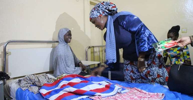 NPP Women's Organizer Supports Patients At Buipe Polyclinic