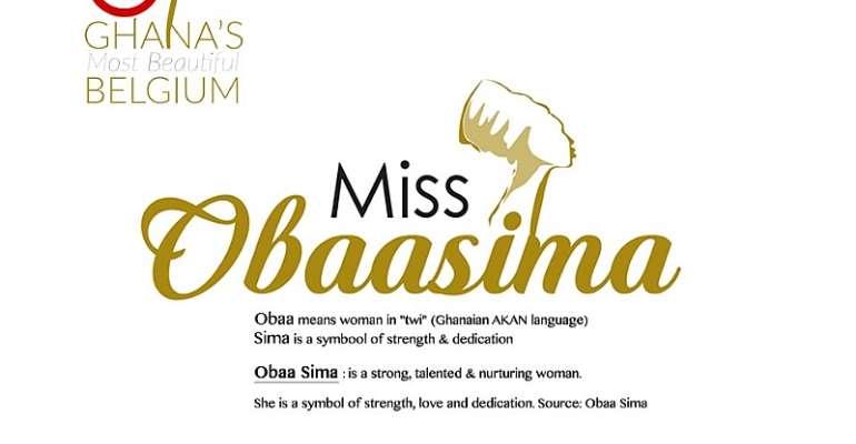 Ghana Most Beautiful (Belgium) changed to Miss Obaasima