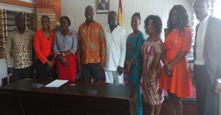 Hon Asimah (4th L) With Members Of The Board After The Swearing In