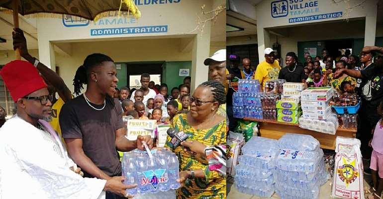 Stonebwoy donates to Tamale SOS Children Village for Christmas
