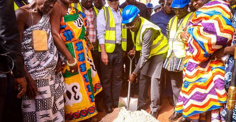 This Isn't Green Book Road, You're Seeing It 'fiilifiili' — Bawumia Cuts Sod For Benchema Junction- Adjoafua Road