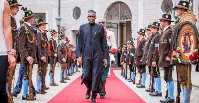 President Muhammadu Buhari in Germany for G7 summit