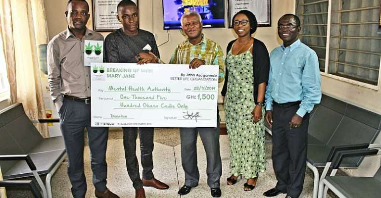 John Hermit Donates Book Profits To Ghana's Mental Health Authority